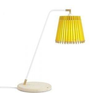Tom Rossau Pencil Korkea Pöytävalaisin Keltainen / Valkoinen