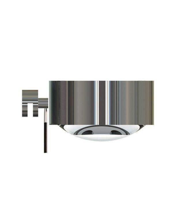Top Light Puk Maxx Seinävalaisin Halogeeni Lens + Glass Kromi