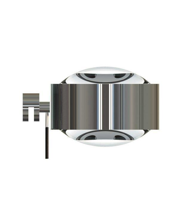 Top Light Puk Maxx Seinävalaisin Halogeeni Lens + Lens Kromi