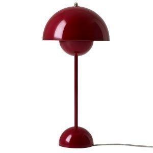 &Tradition Flowerpot Vp3 Pöytävalaisin Tummanpunainen