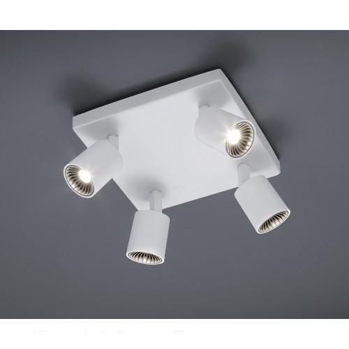 Trio CAYMAN LED spotti 4-osainen valkoinen