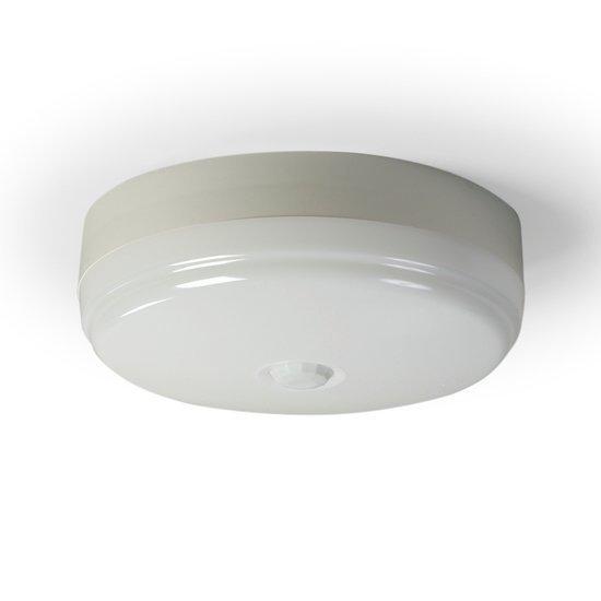 Tunnistinvalaisin AVR1.29/94E 9+9W TC-E/2G7 PIR Ø260x93 mm valkoinen
