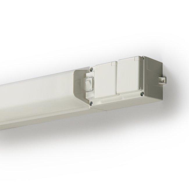 Työpistevalaisin AVR17.1120 11W TC/G23 426 mm kytkin + kaksoispistorasia valkoinen