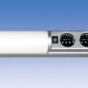 Työpistevalaisin Ali ALH13214 T5 14W 725 mm 2-osainen pistorasia + kytkin harmaa