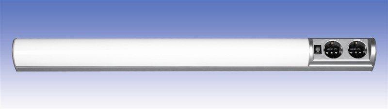 Työpistevalaisin Ali ALH13215 T8 15W 615 mm 2-osainen pistorasia + kytkin harmaa