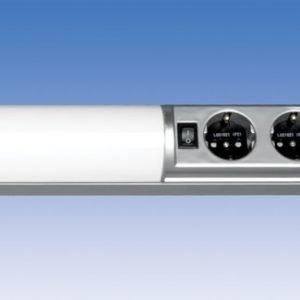Työpistevalaisin Ali ALH13221 T5 21W 1025 mm 2-osainen pistorasia + kytkin harmaa