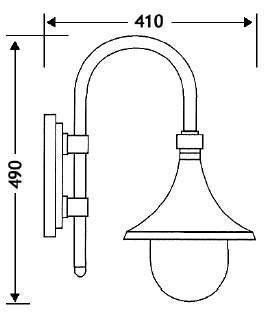Ulkovalaisin Trumpetti lyhty PL-2033-2 musta 75W IP43 E27