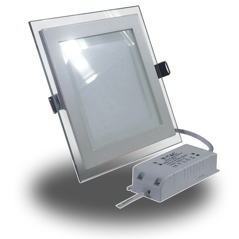 Upotettava LED-valaisin V-TAC VT-1202G SQ 12W 230V 3000K 840lm IP20 valkoinen
