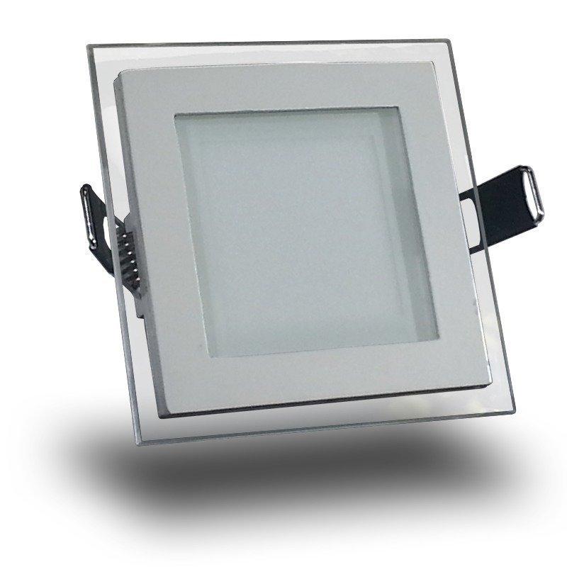 Upotettava LED-valaisin V-TAC VT-602G SQ 6W 230V 3000K 420lm IP20 valkoinen