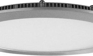 Upotettava valaisin FocusLight Slim LED 15W 230V 3000K 900lm IP20 Ø 180mm hopea
