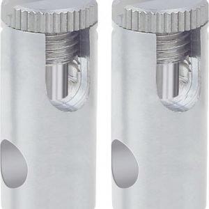 Vaijerijärjestelmän virtaliitinpari 12V 300W 6 mm² mattakromi