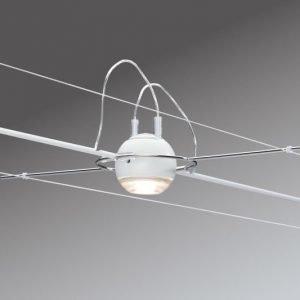 Vaijerivalaisin AirLED Ball 1x50W 45x300x98 mm valkoinen