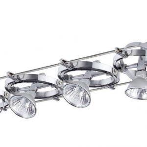 Vaijerivalaisinsetti Cardan alumiini/kromi 8 valaisinta + vaijeri 15 m + muuntaja