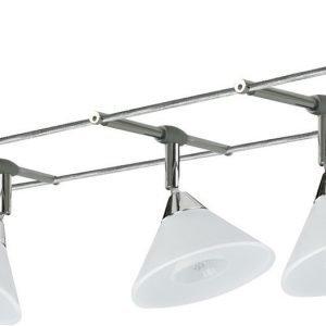 Vaijerivalaisinsetti Colmar kromi/satiini 5x20W 5 valaisinta + vaijeri 10 m + muuntaja