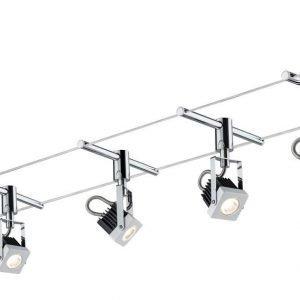 Vaijerivalaisinsetti Mezzo valkoinen 5 valaisinta + vaijeri 10 m + muuntaja