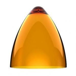 Valaisinkupu Funk 22 Ø 220x240 mm läpinäkyvä oranssi