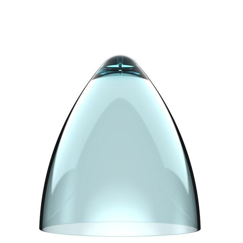 Valaisinkupu Funk 22 Ø 220x240 mm läpinäkyvä turkoosi