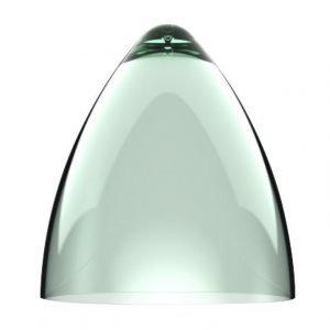 Valaisinkupu Funk 22 Ø 220x240 mm läpinäkyvä vihreä