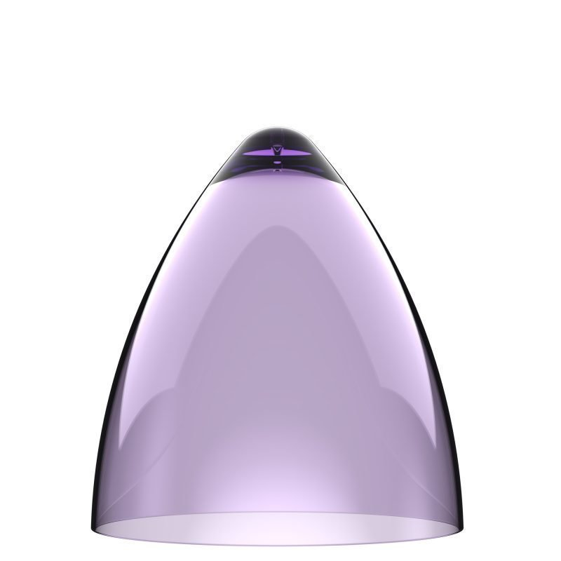 Valaisinkupu Funk 22 Ø 220x240 mm läpinäkyvä violetti