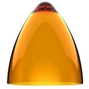 Valaisinkupu Funk 27 Ø 270x300 mm läpinäkyvä oranssi