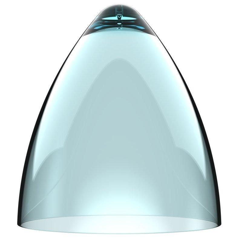 Valaisinkupu Funk 27 Ø 270x300 mm läpinäkyvä turkoosi
