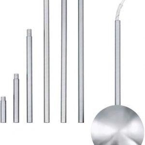 Valaisinliitännän jatkokappale 1570x120 mm kromi