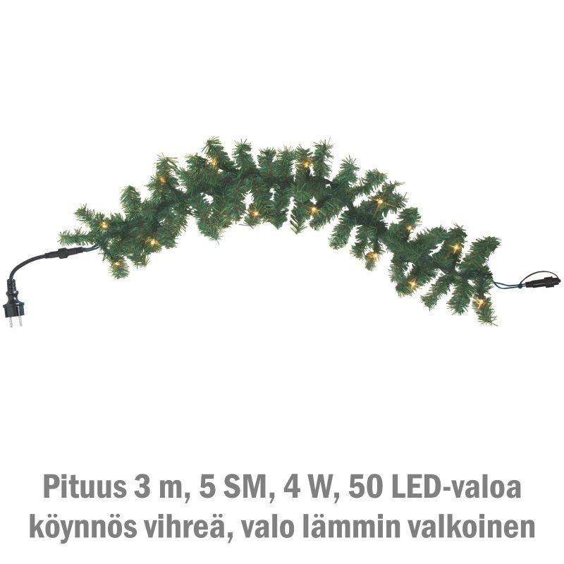 Valoköynnös System LED Extra 4W 50 valoa 3 m lämmin valkoinen