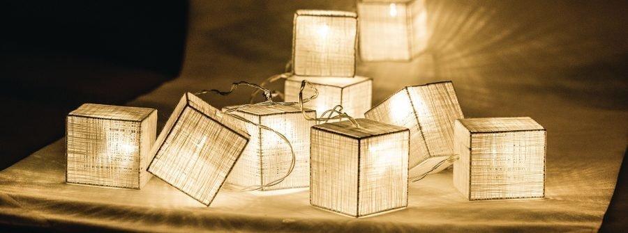 Valoköynnös kuutiot 10 LED-valoa