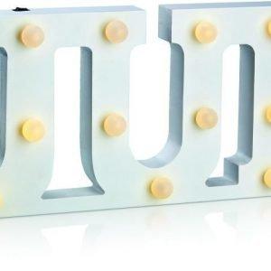 Valokoriste Word Jul LED 14 valoa puu valkoinen paristokäyttöinen