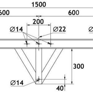 Valonheitinteline puupylväälle TO15P