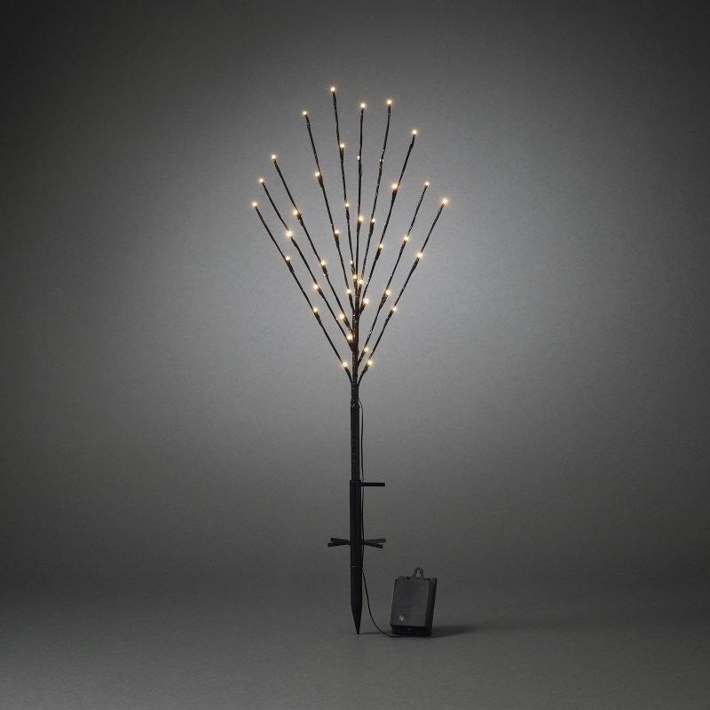 Valopuu LED 3747-700 50x100 cm 40 valoa paristokäyttöinen musta maapiikillä