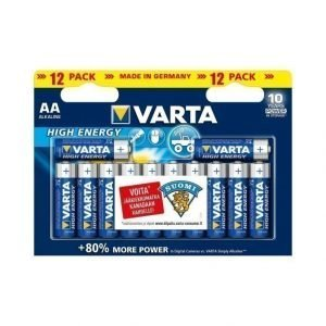 Varta High Energy Aa Paristo 12 Kpl
