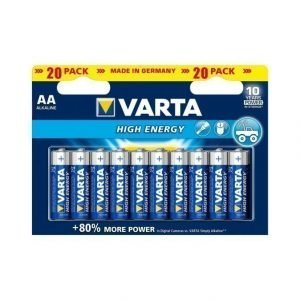 Varta High Energy Aa Paristo 20 Kpl