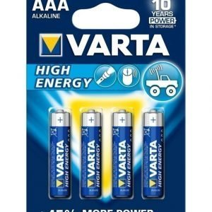 Varta High Energy Aaa 1.5 V Paristo 4 Kpl