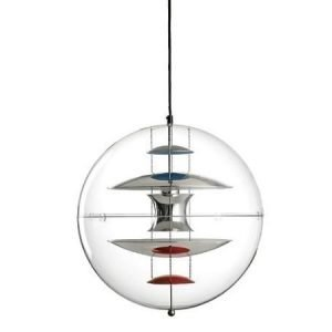 Verner Panton VP Globe kattovalaisin valko-punainen 50 cm