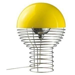 Verner Panton Wire pöytävalaisin keltainen