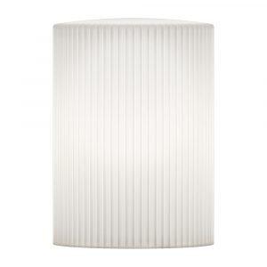 Vita Ripples Cusp Lampunvarjostin Valkoinen 21 Cm