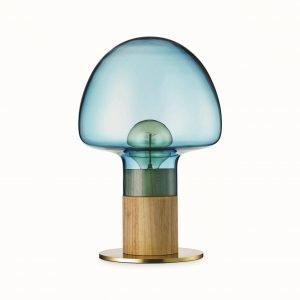 Watt A Lamp Mush Pöytävalaisin Sininen Läpinäkyvä
