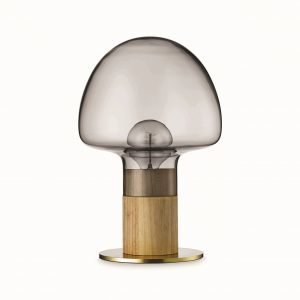 Watt A Lamp Mush Pöytävalaisin Smoke Läpinäkyvä