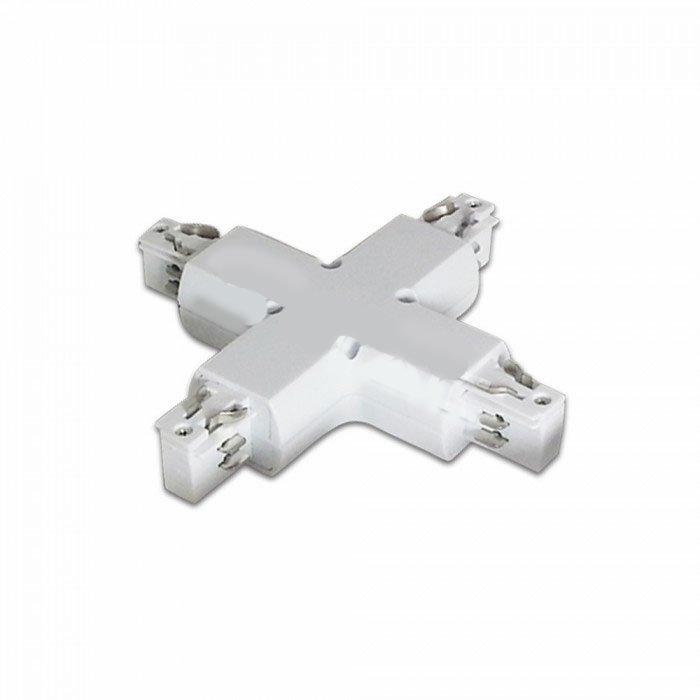 X Liitin 3-Vaihe LED Kiskovalo Järjestelmälle Valkoinen
