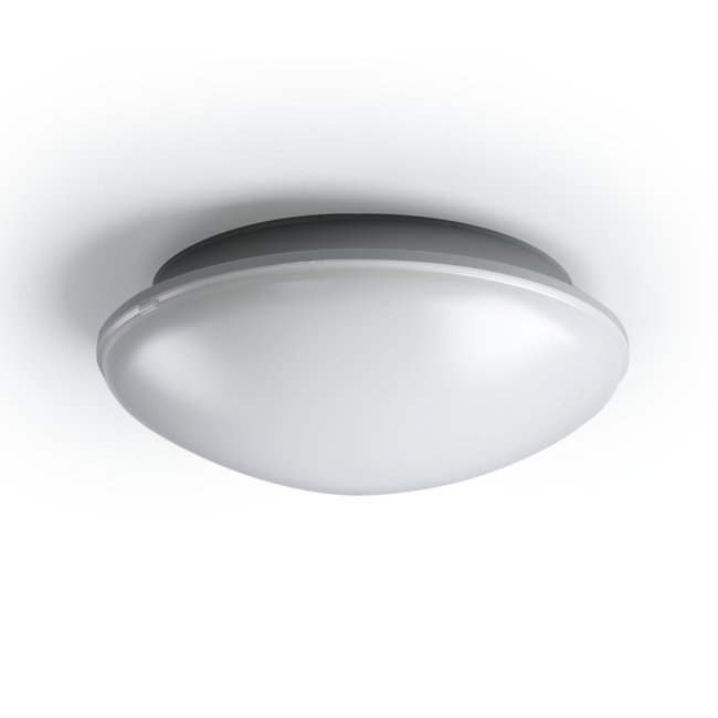 Yleisvalaisin AVR254.29E 2x9W TC-E/2G7 Ø254x90 mm vaaleanharmaa/opaali